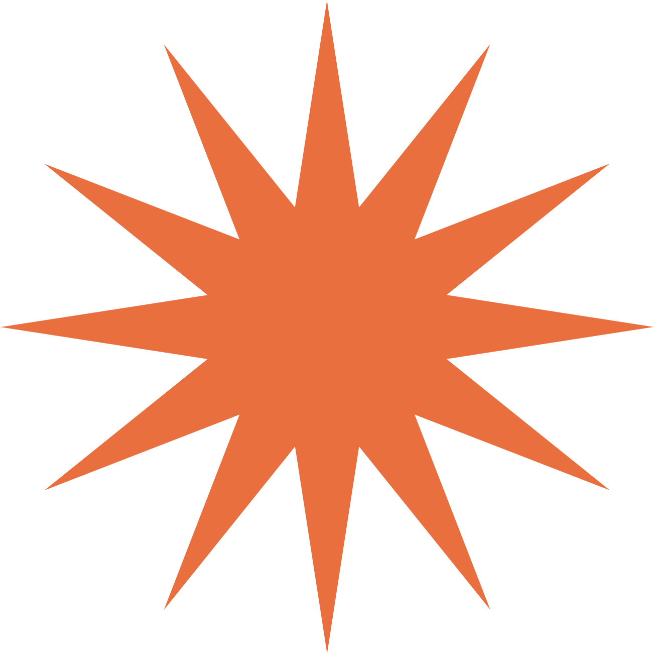Spinning Orange Star